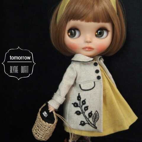 ◆tomorrow◆Blythe outfit ブライス 刺繍コート9点セット◆