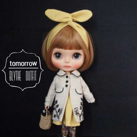◆tomorrow◆Blythe outfit ブライス 刺繍コート9点セット◆_画像2