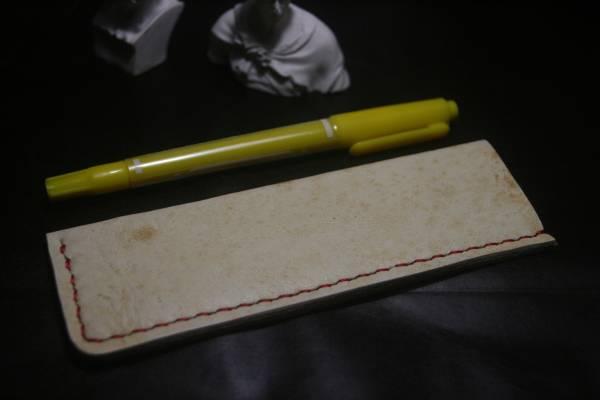 HHH ペンケース レザー 革 ボールペン シャーペン 鉛筆など 手縫いハンドメイド 97