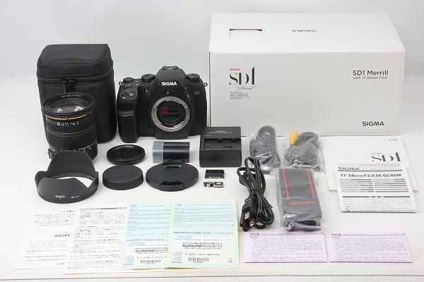◆ほぼ新品◆シグマ SIGMA SD1 Merrill 17-50mm F2.8 EX DC OS HSM レンズキット 付属品完備 元箱 保証◇11434