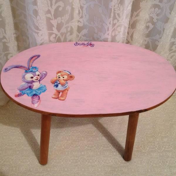 TIME SALE!ステラルー ダッフィー☆木製テーブル♪ハンドメイド ディズニーグッズの画像