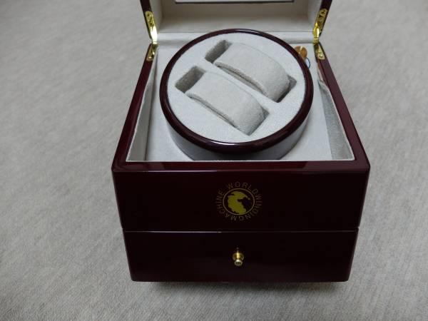 木製ワインディングマシーン・自動巻き時計用収納箱_画像2