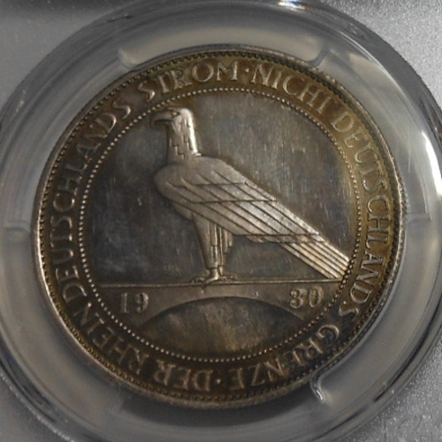1930年 ラインラント ワイマール銀貨 PCGS PR62 CAM 5マルク