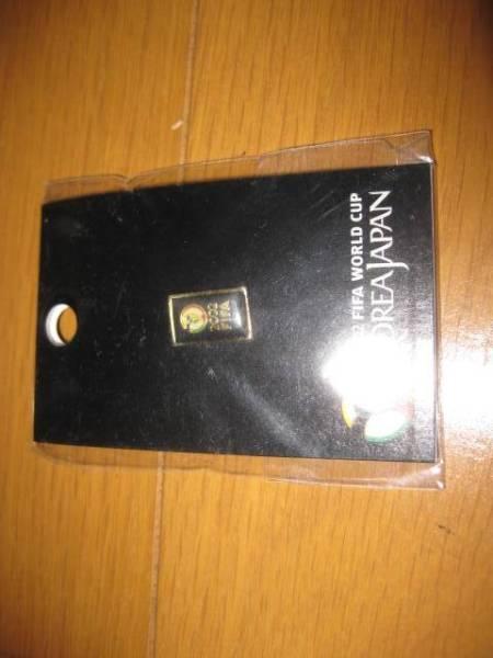 新品!2002年日韓ワールドカップ公式グッズ ピンバッジ(縦小×ブラック)