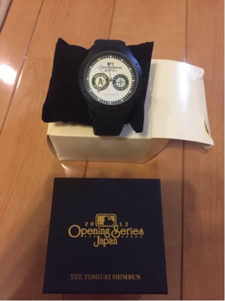 プロ野球 オープニングシリーズ2012 オークランドアスレチックスvsシアトルマリナーズ 記念 腕時計 グッズの画像