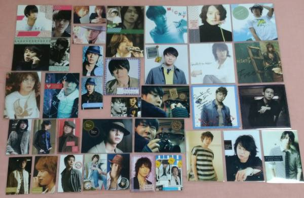 ユチョン 東方神起 JYJ 写真 ラミネートカード 35枚☆ ① ファン作製 ライブグッズの画像