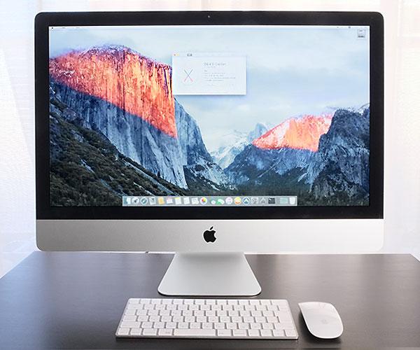 【AppleCare ~2019年7月】iMac 27インチ Retina 5Kディスプレイ《Core i5 3.2GHz / 8GB / HDD1TB》Late 2015★MK462J/A