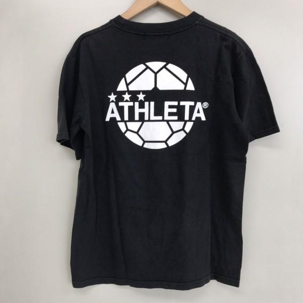 人気ブランド フットサル アスレタ 半袖Tシャツ ブラック_画像2