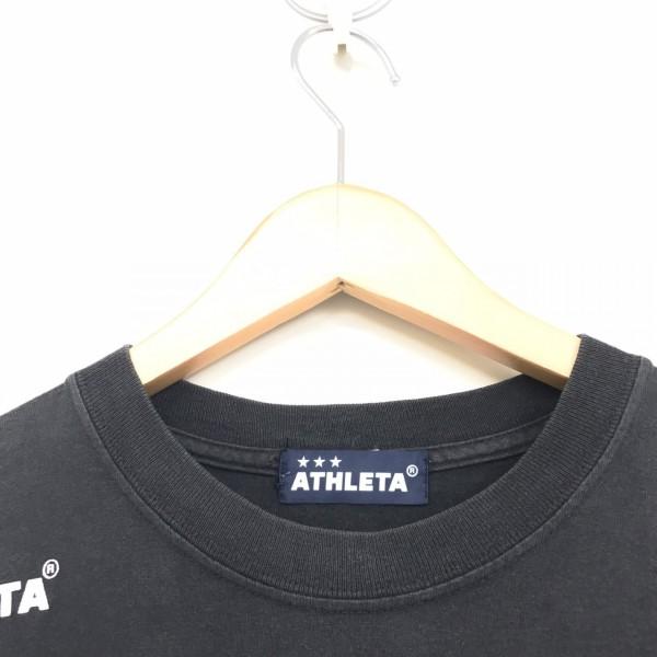 人気ブランド フットサル アスレタ 半袖Tシャツ ブラック_画像3