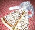 ☆゜・愛用。☆光沢スカーフ柄サテンスカート+お嬢様フリル光沢サテンホワイトブラウスOL通勤コーデ。・゜☆