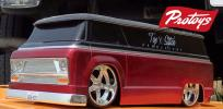 RC 1/18 MOTORWORKS CUSTOM VAN (BLACK RED)