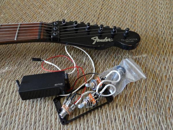 1552 Fender Japan TL-555/BOXER SERIES Aシリアル!EMG搭載 ロック式テレキャスター!ジャンク!