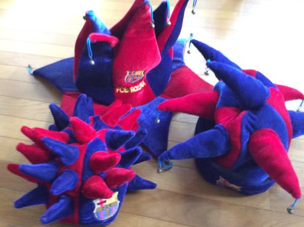 FCバルセロナ 帽子 3個セット グッズの画像