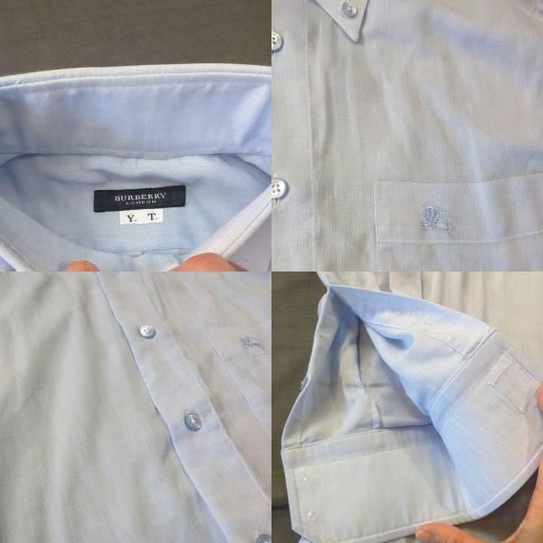 バーバリー Yシャツ 長袖シャツ ブルー 高島屋 _画像2