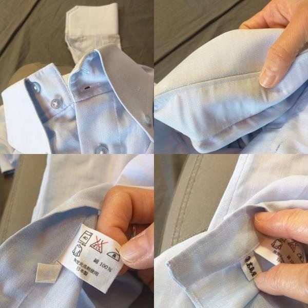 バーバリー Yシャツ 長袖シャツ ブルー 高島屋 _画像3