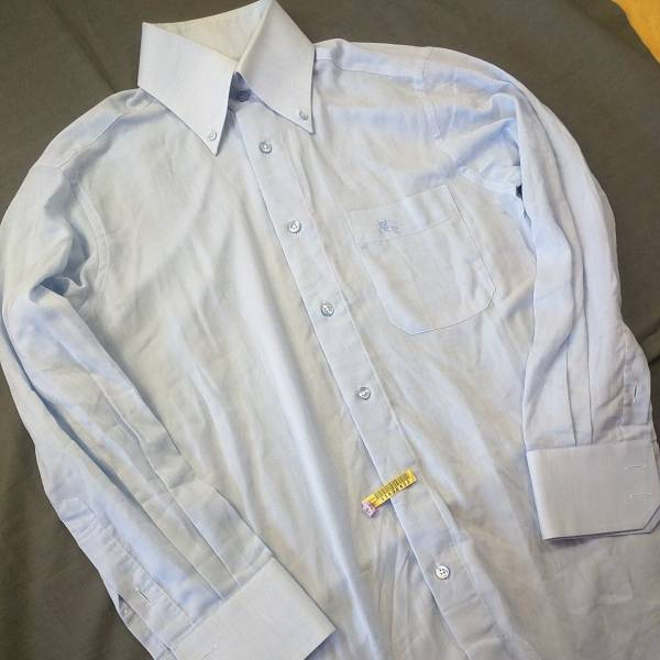 バーバリー Yシャツ 長袖シャツ ブルー 高島屋