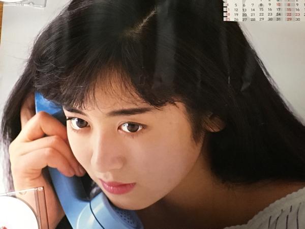 当時物 斉藤由貴 AXIA 非売品プロモーションポスター 未使用品