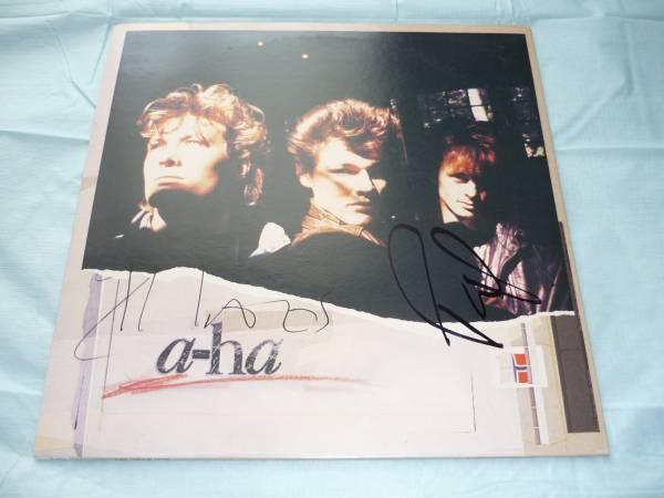 直筆サイン入りレコード a-ha/The Sun Always Shines On T.V. 12インチ 激レア