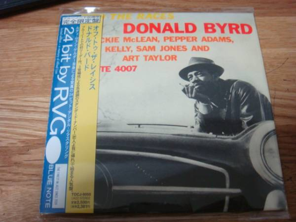 DONALD BYRD OFF THE RACES BLUE NOTE 紙ジャケcd ドナルドバード JACKIE McLEAN WYNTON KELLY PEPPER ADAMS _画像1