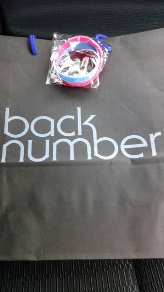 back number 静岡エコパアリーナ 限定ラバーバンド バックナンバー ライブグッズの画像