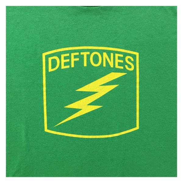 00s Deftones デフトーンズ Tシャツ M 緑 管理B753 メタリカ ニルヴァーナ ナインインチネイルズ ガンズ ライブグッズの画像