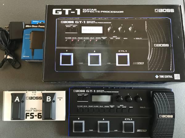 BOSS GT-1 純正アダプターPSA-100S デュアルフットスイッチFS-6 付