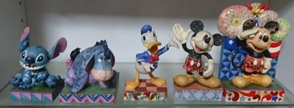 ディズニー・トラディション 5個セット 送料込 ミッキー ドナルド スティッチ イーヨー 箱無 ディズニーグッズの画像