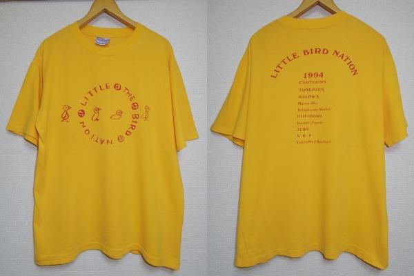 90s■LITTLE BIRD NATION 1994 スチャダラパー SDP■Tシャツ■L 黄色 USA製■Tokyo No.1 Soul Set かせきさいだぁ 四街道ネイチャー cd lp