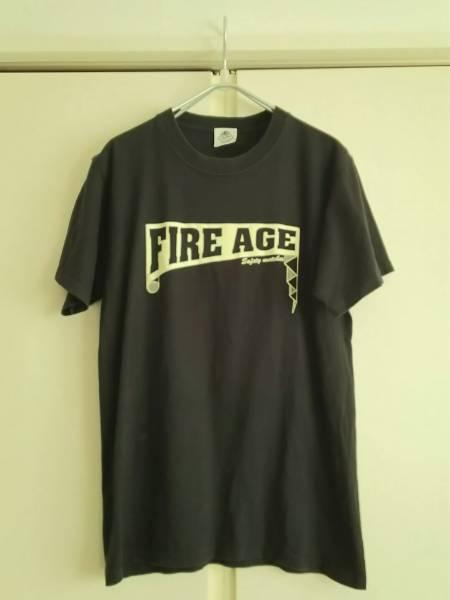 ザ・クロマニヨンズ FIRE AGE●半袖Tシャツ/黒系