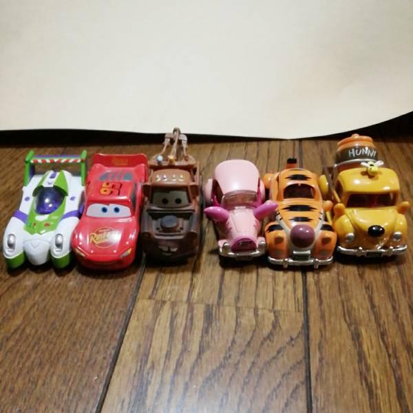 トミカ ディズニー シリーズ 車 おもちゃ バズ カーズ プーさん ティガー ピグレット セット 中古 送料400円  ディズニーグッズの画像