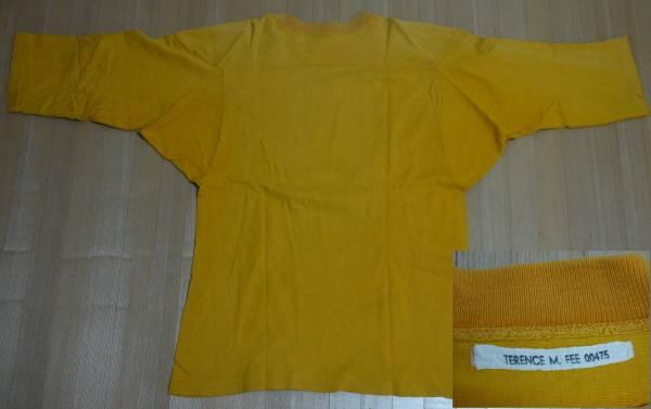 送料込即決ビンテージチャンピオン7分袖フットボールTシャツ60年代単色タグM/ランタグフットボールバータグナンバリングカレッジusmausafa_画像2