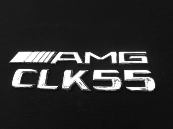 AMG仕様/リア/トランク/エンブレム『AMG』+『CLK55』BENZベンツW208CLK200CLK320/クーペ/カブリオレ/アバンギャルド/バンパー/ホイール_画像1