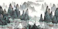近白雪石 千峰秀 中式 国画 名画 山水画 掛け軸 書画 人物画 古画 古書 巻物 中国絵画 横置き絵