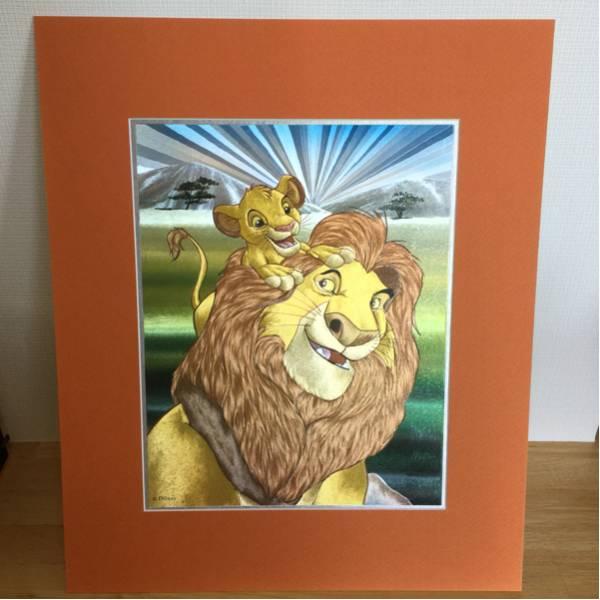 台紙付き☆ディズニー大きなカード ライオンキング ディズニーグッズの画像