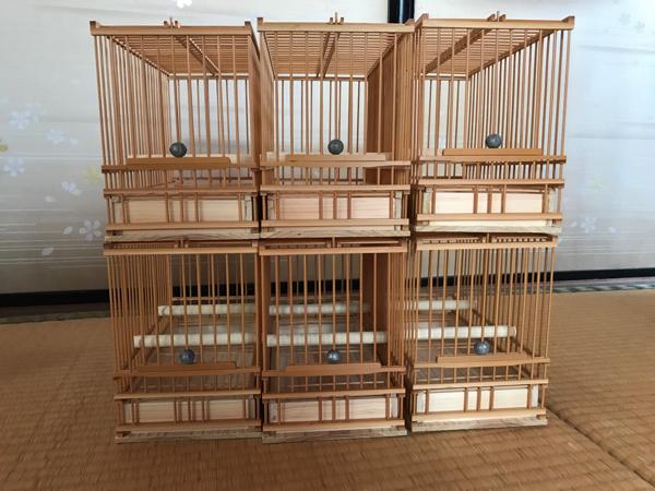 ☆竹製手作り鳥かご*6個組*送料込み☆_画像1