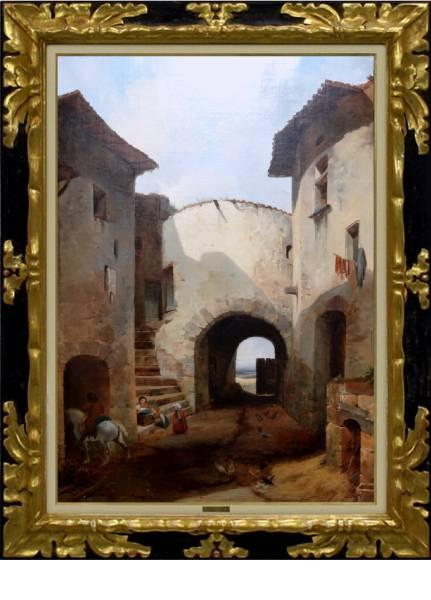 19世紀【ルーブル収蔵】巨匠 F.E.RICOIS『古城』25号【売切】