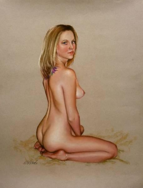 ☆パステル画 甘美な香り 「美しき裸婦 148」