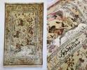 イラン クム産 手織り シルク100% オールド ペルシャ絨毯 シェカールガ 「王様の狩り遊び 」 90万ノット 絨毯 工房名有 154㎝×105㎝