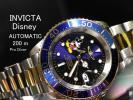 【Disney×INVICTA】1円ミッキーマウスインヴィクタ自動巻きディズニー公式ProDiverダイバー腕時計メンズ逆輸入モデル新品200m防水ゴールド
