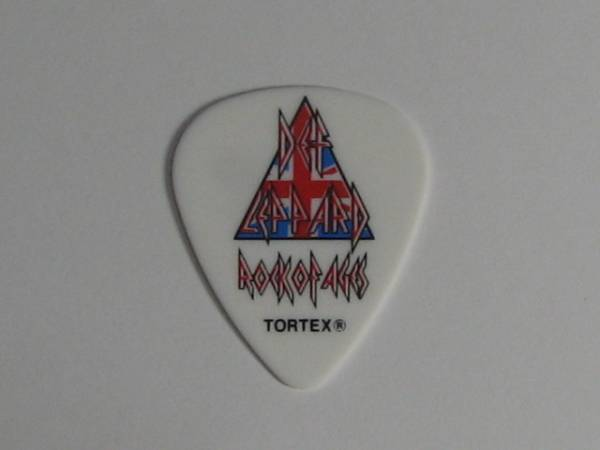 ★Def Leppard デフ・レパード Rick Allen リック・アレン 2013 Rock Of Ages Tour ギターピック