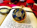 ★ぜひこの変わった文字盤を★ 14金無垢なWaltham(ウォルサム)のアンティーク懐中時計 ヴィンテージ 機械式 手巻き 14k ゴールド レトロ