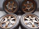 超軽量 レイズ RAYS VR TE37 鍛造 ブロンズアルマイト 5JX14 +45 PCD100 155/55R 美品