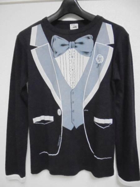 f2282523bf6d5 即決 80s ビンテージ タキシード だまし絵 ロンTシャツ カットソー USA製 長袖Tシャツ