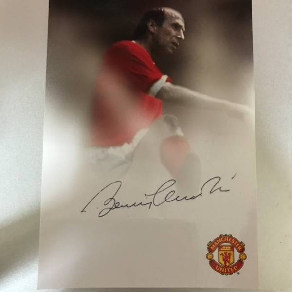 (レジェンド) ボビー・チャールトン 直筆サインカード① マンチェスターユナイテッド 検) イングランド代表 Manchester United auto グッズの画像