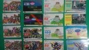 レア★電電公社★大阪城、岡本太郎、東北祭り他16枚セット!