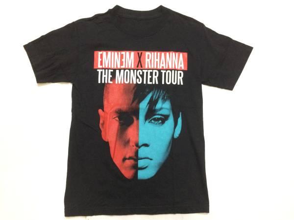 エミネム×リアーナ 2014モンスターツアーTシャツ アメリカ古着美品 EMINEM×RIHANNA THE MONSTER TOUR