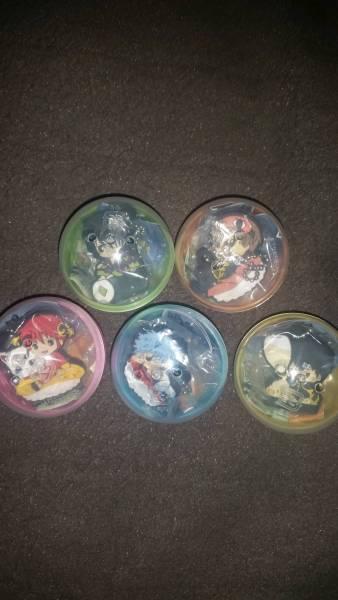 くら寿司 ビッくらポン 銀魂 ラバーマスコット5種 グッズの画像