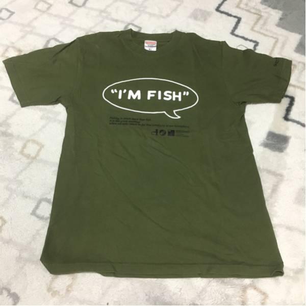 FISHMANS Tシャツ I'M FISH アーミーグリーン Mサイズ 古着 フィッシュマンズ