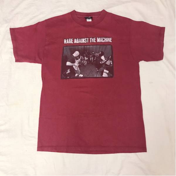 90s USA製 RAGEagainstTHEmachine Tシャツ giant アメリカ製 ジャイアント レイジアゲインストザマシーン バンドT マイナースレット ロック
