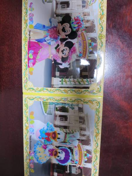 TDLフォトファン2010年イースター 3面台紙付き(ミッキー・ミニー/ドナルド・デイジー)② ディズニーグッズの画像